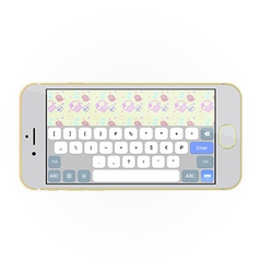 Realistic smartphone with keyboard on screen in vector image vector image