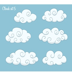 set of cute clouds vector image vector image