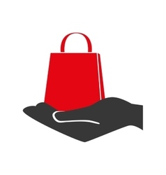 bag shop purchase hand vector image