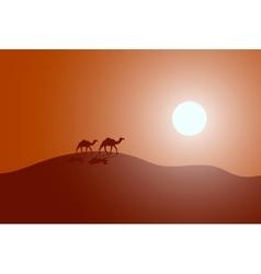 caravan in a desert vector image