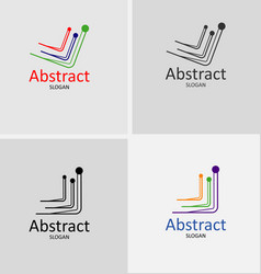 global business logo abstract vector image