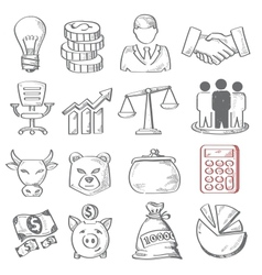 hand draw business vector image