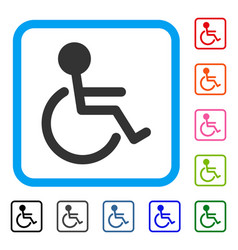 handicapped framed icon vector image vector image