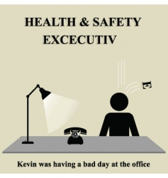 health safety sign vector image vector image