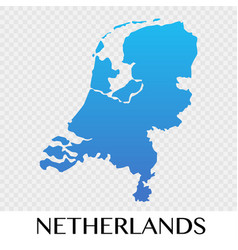 netherlands map in europe continent design vector image