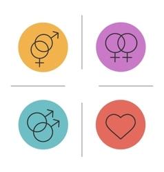 Gender symbols color icons set vector image