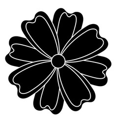 Japanese flower isolated icon vector