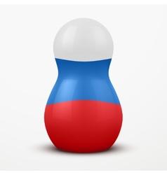 Russian tradition matrioshka dolls in flag style vector image