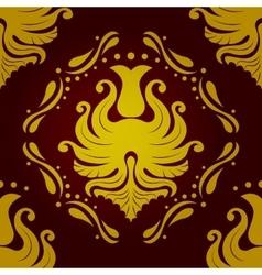 Seamless retro vintage victorial baroque wallpaper vector image
