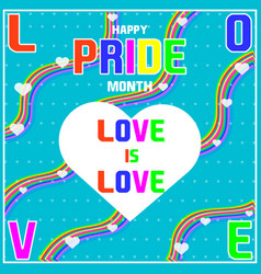 Amazing happy pride month banner for social media vector