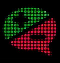 Arguments halftone icon vector