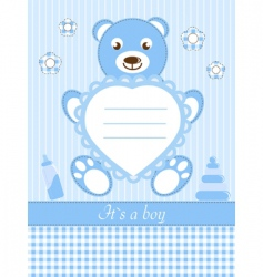Baby boy shower invitation ca vector