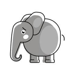 baby elephant with a heart logo for children s vector image