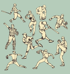 Baseball sport action vector