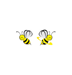 bee icon logo technology vector image