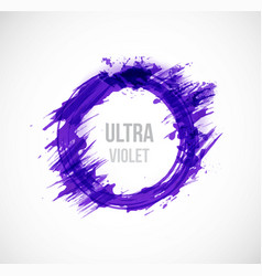 Big ultra violet purple grunge circle on white vector