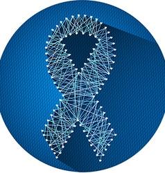 Blue ribbon 2 vector