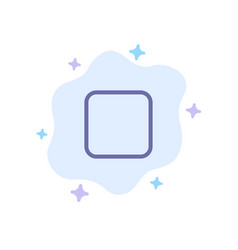 Box checkbox unchecked blue icon on abstract vector