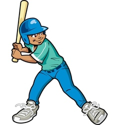 Boy Baseball Batter vector