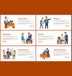 business and work boss and employees posters vector image