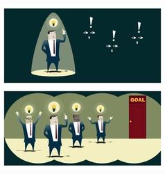 Business Idea series Business Team 8 concept vector