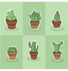 Cactus drawing vector