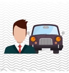 car salesman design vector image