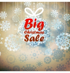 Christmas Big Sale template with copy space vector image