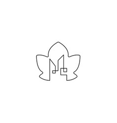 City leaf nature logo design icon element isolated vector