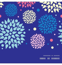 Colorful bursts horizontal frame seamless pattern vector