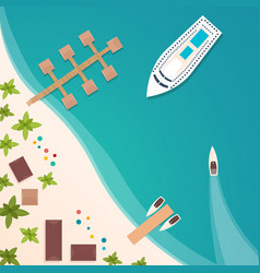 colorful travel to paradise tropical beach best vector image