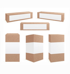craft carton boxes standing brown pack cookie vector image