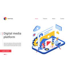 digital media data website vector image