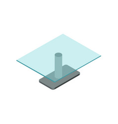 empty glass table isometric 3d icon vector image