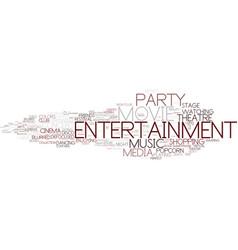 Entertainment word cloud concept vector