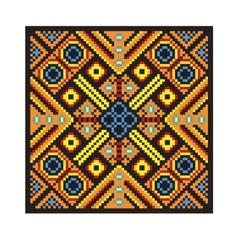Ethnic ukrainian mosaic vector image