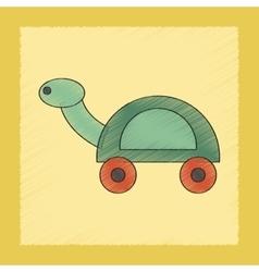 flat shading style icon Kids turtle vector image