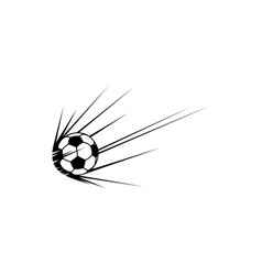football trail isolate soccer ball with trace icon vector image
