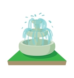 Fountain icon cartoon style vector
