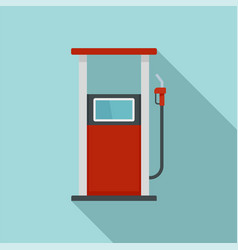fuel refill stand icon flat style vector image