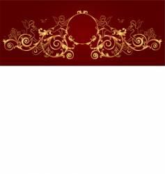 gold framework vector image