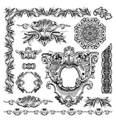 Hand draw vintage sketch ornamental design element vector