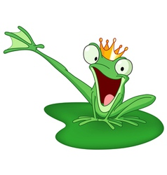 happy frog prince vector image