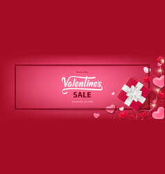 happy valentines day sale background vector image