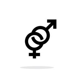 Hetero icon on white background vector image