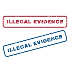 Illegal Evidence Rubber Stamps vector