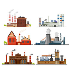 industrial factory refinery plant manufacture vector image