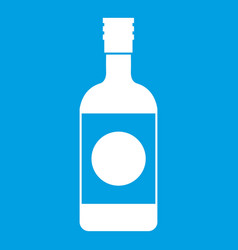 Japanese sake icon white vector