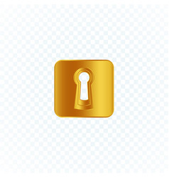 keyhole icon gold isolated logo or button template vector image
