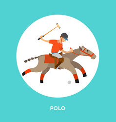 man on horse holding stick hitting ball on speed vector image